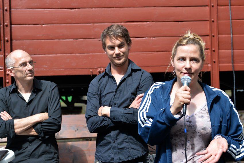 Ein Nachmittag im Heimatmuseum. v.l. Ralf Piorr, Till Beckmann, Jennifer Ewert.