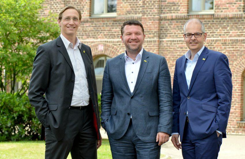 v.l. Dr. Ludger Kleyboldt, Mark Liedtke, Dr. Felix Friedlaender.