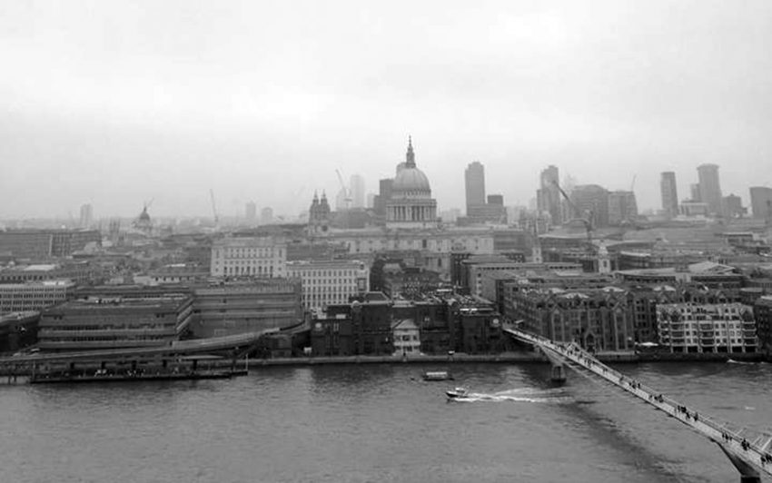 London im Nebel.