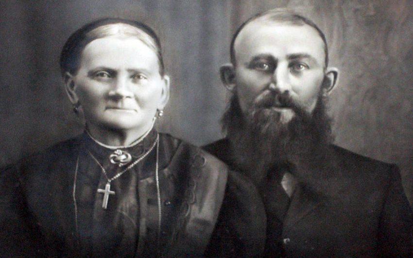 Bernhard Kock (r. )mit Gattin.