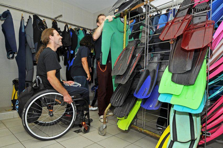 Tauschüler mit Behinderung.