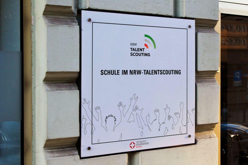 Plakette des NRW-Talentscouting.