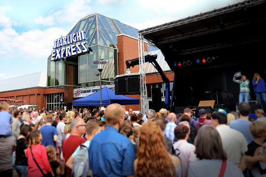 Tag der offenen Tür beim Starlight Express in Bochum.
