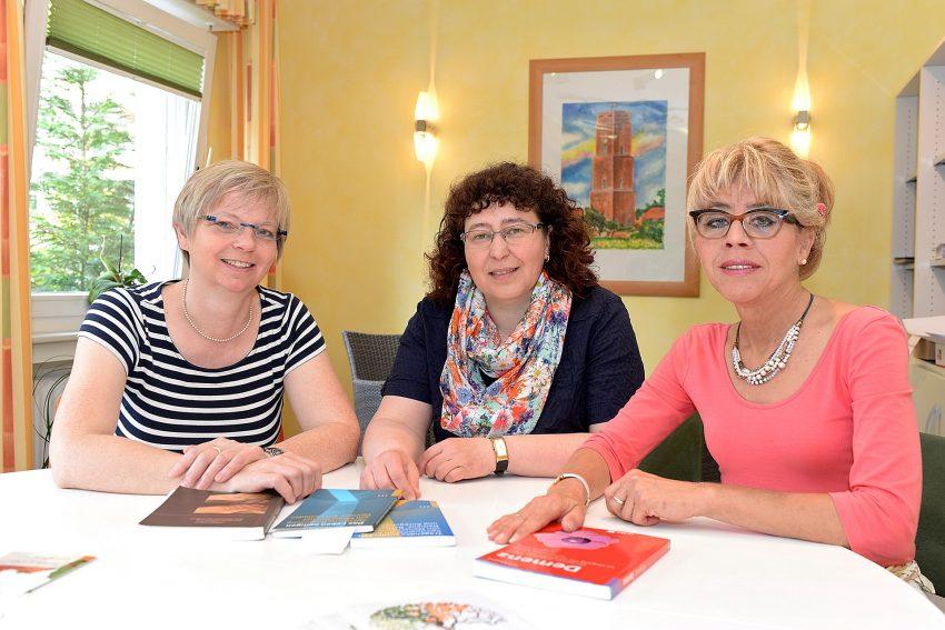 v.l.: Karola Rehrmann, Karin Leutbecher und Annegret Müller.