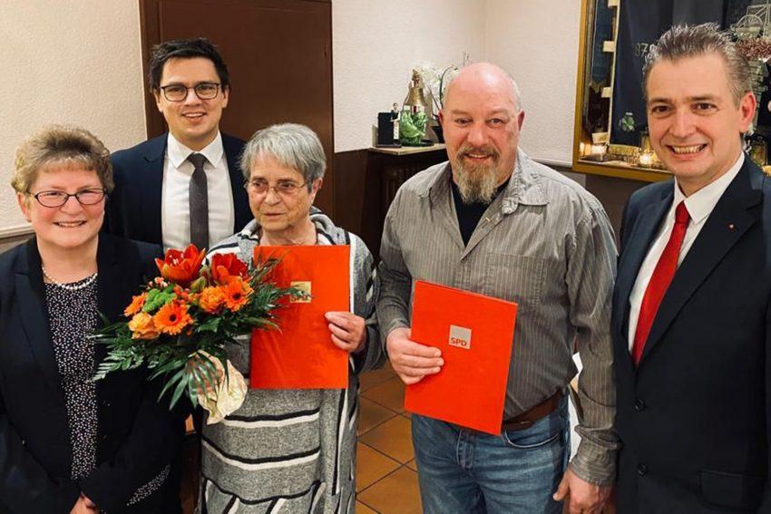 v.l.l Andrea Scholz (stellv. Ortsvereinsvorsitzende), Alexander Vogt (MdL und stellv. Ortsvereinsvorsitzender), Karin Drenseck, Gerald Fritz und Kai Gera (Ortsvereinsvorsitzender).