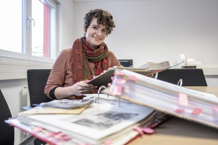 100 Jahre Caritas in Herne: Pressekonferenz zum diesjährigen Jubiläum beim Caritasverband Herne e.V., am Mittwoch (30.01.2019) in Herne (NW). Im Bild: Ronja Harder (Öffentlichkeitsarbeit).