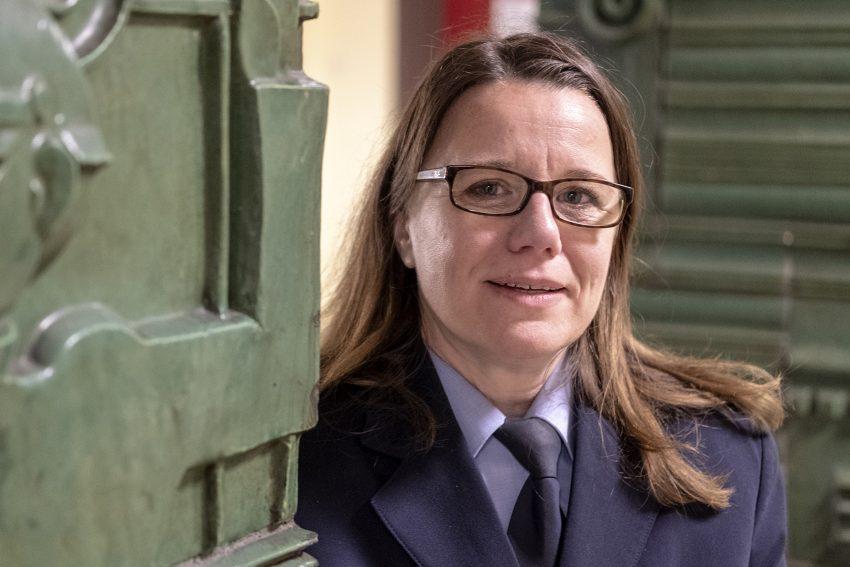 Polizeioberrätin Nicole Pletha, Leiterin der Polizeiinspektion in Herne (NW), am Donnerstag (08.11.2018). Die 46-jährige Gelsenkirchenerin leitet seit dem 1. Oktober die Polizeiinspektion Herne mit den beiden Wachen Herne und Wanne-Eickel.