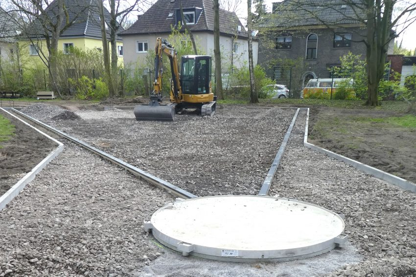 Der Umbau des Horststadions geht zügig voran.