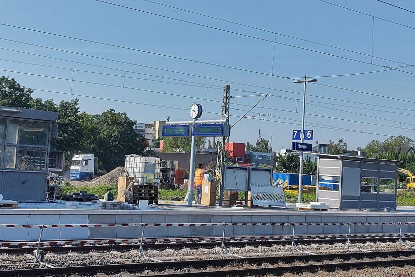 Bahnsteigsituation am Herne Bahnhof.