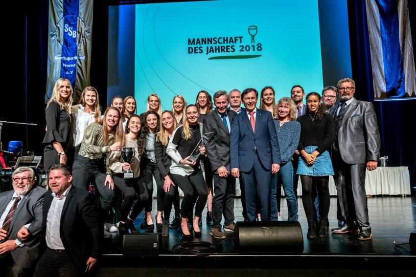 Die Bundesliga Basketballerinnen des HTC sind die Mannschaft des Jahres 2018.