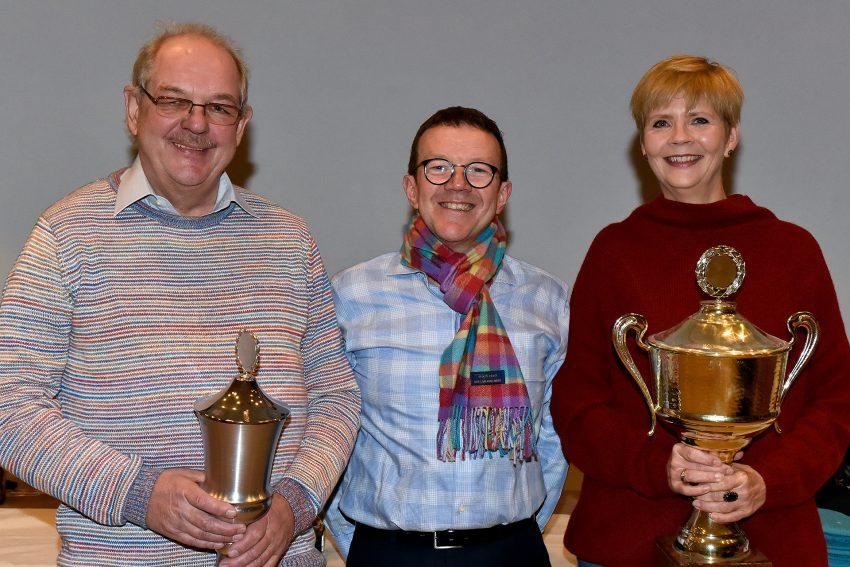 Als Vereinsbeste konnte RSG-Vorsitzender Klaus Spiekermann (M.) Gerd Glowacki (l.) und Julika Gang (r.) ehren.