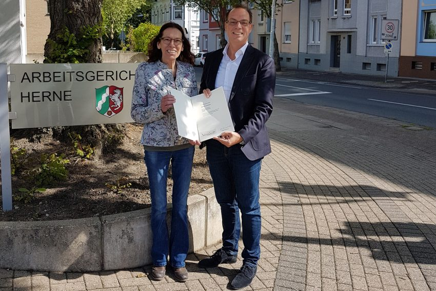 v.l. Heidi Lischewski, Dr. Sascha Dewender.