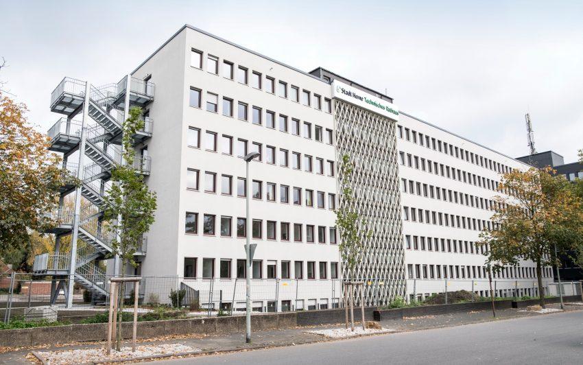 Das Technischen Rathaus an der Langekampstraße.