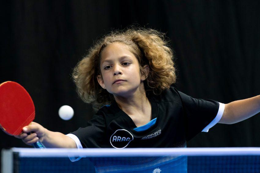 Der Tischtennisclub Westfalia richtet die Mini-Meisterschaften im tischtannis aus. im Bild: Levy Yoad.