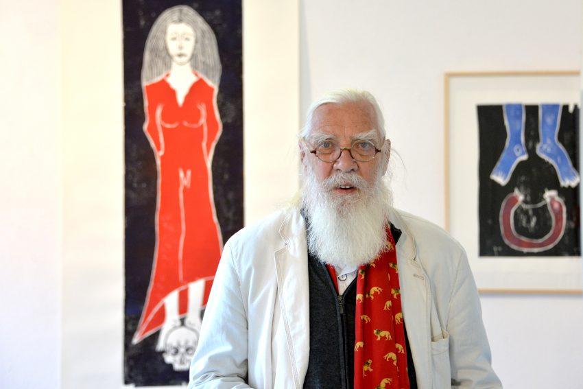 Der Düsseldorfer Künstler Werner Reuben stellt in der Städtischen Galerie aus.