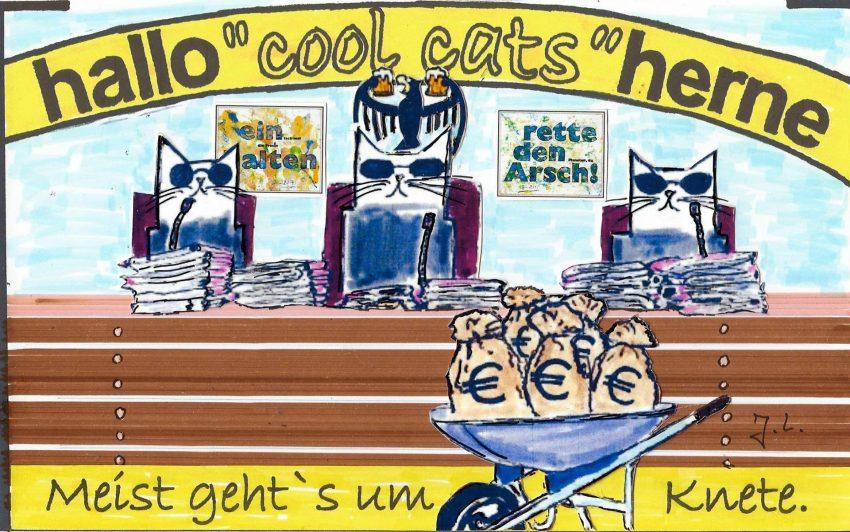Die cool cats gehen zum Arbeitsgericht.