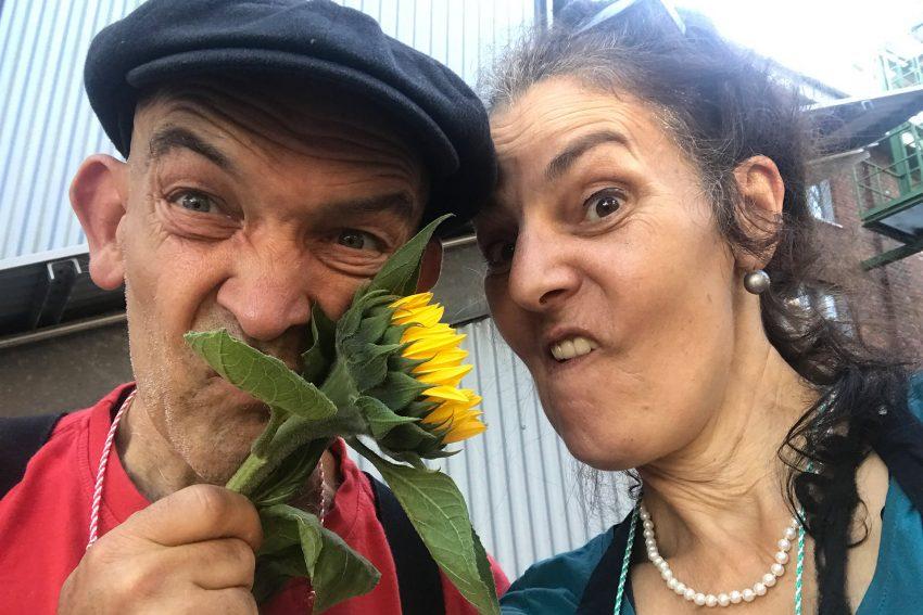 Workshop LockdownKids mit dem Theater Traumbaum: Birgit Iserloh und Ralf Lambrecht.
