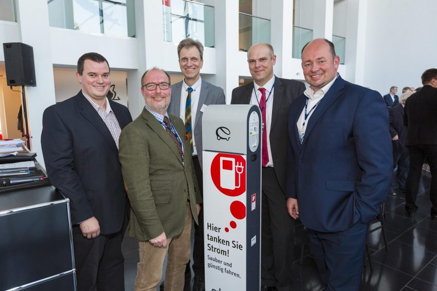v.l. Peter Daub-Stadtwerke, Lutz Schewe-PROtransfer, Ulrich Koch-Stadtwerke, Christian Knöller-Steuerberater, Holger Stoye-Wirtschaftsförderungsgesellschaft.