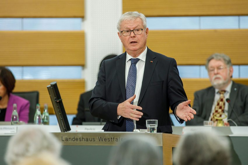 LWL Landschaftsversammlung beschließt ersten Doppelhaushalt für die Jahre 2020/21. im Bild: Der Vorsitzende des Finanz- und Wirtschaftsausschusses, Klaus Baumann (CDU).