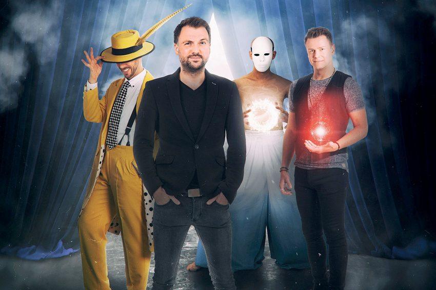 Comedy und Magie mit Christopher Köhler, Lars Ruth, Swann und Sam Cole.