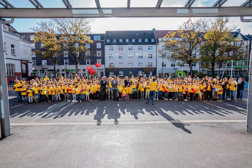 Offizielle Eröffnung der Grundschule Kunterbunt an der Neustraße.