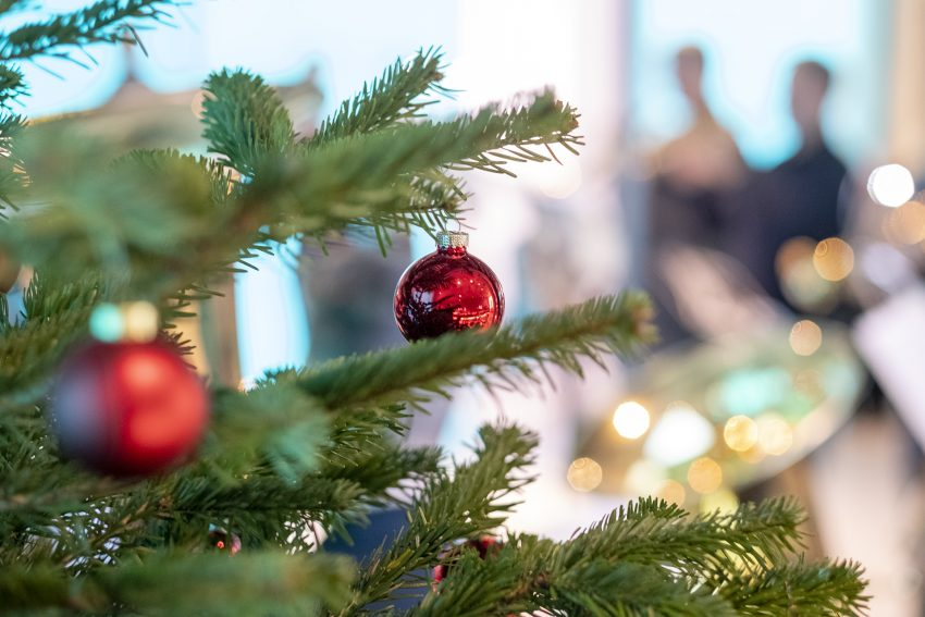 Weihnachtssingen mit dem CVJM Posaunenchor im Archäologiemuseum in Herne (NW), am Sonntag (08.12.2019).