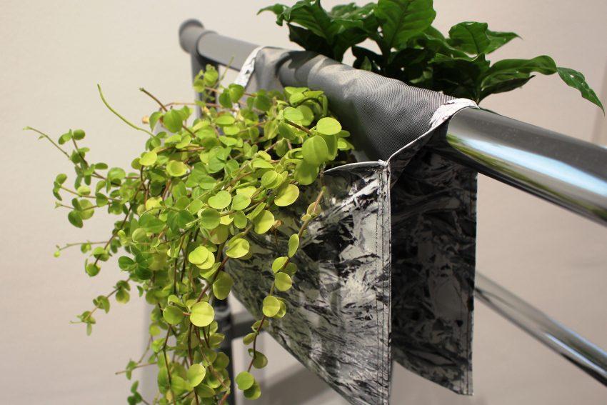 Upcycling-Workshop: Pflanztaschen aus Werbebannern.