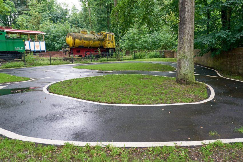 Jugendverkehrsschule am Heimatmuseum.