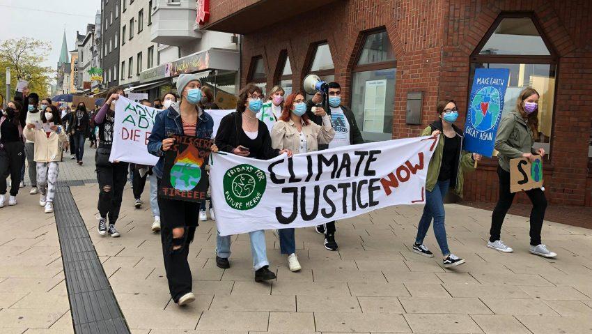 Klimastreik von Aktivisten von