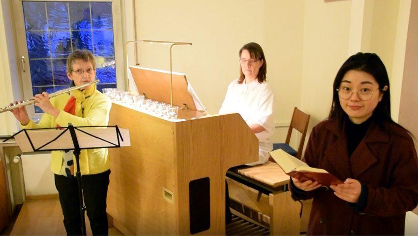 Beim Orgeltag Westfalen dabei: (v.li.) Brigitte Wilms, Kerstin Heppner und Jiyoung Kwak