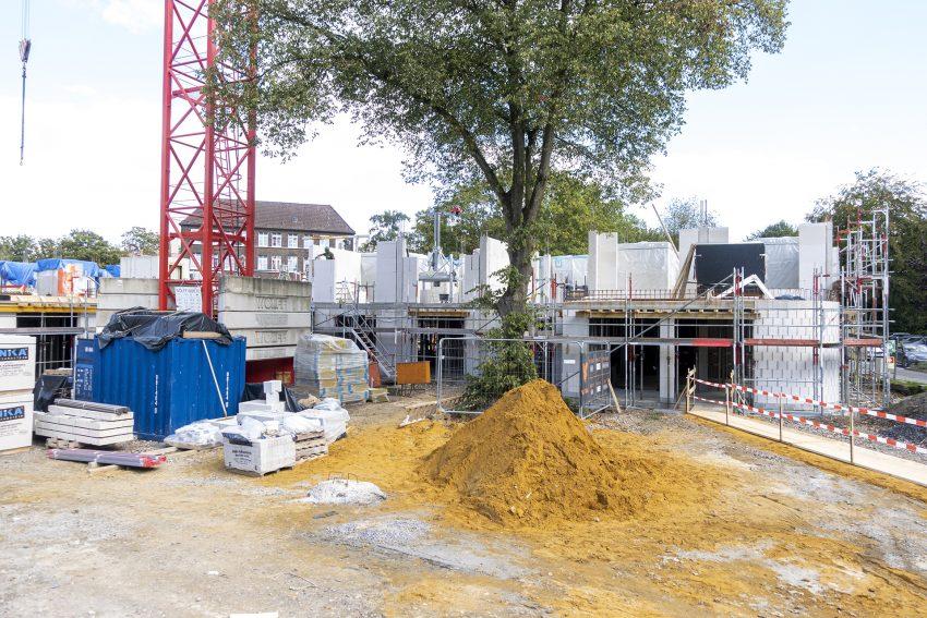 Grundsteinlegung für den dritten Bauabschnitt der Senioreneinrichtung Protea Wohnen am Park an der Forellstraße in Herne (NW, am Donnerstag (10.09.2020).