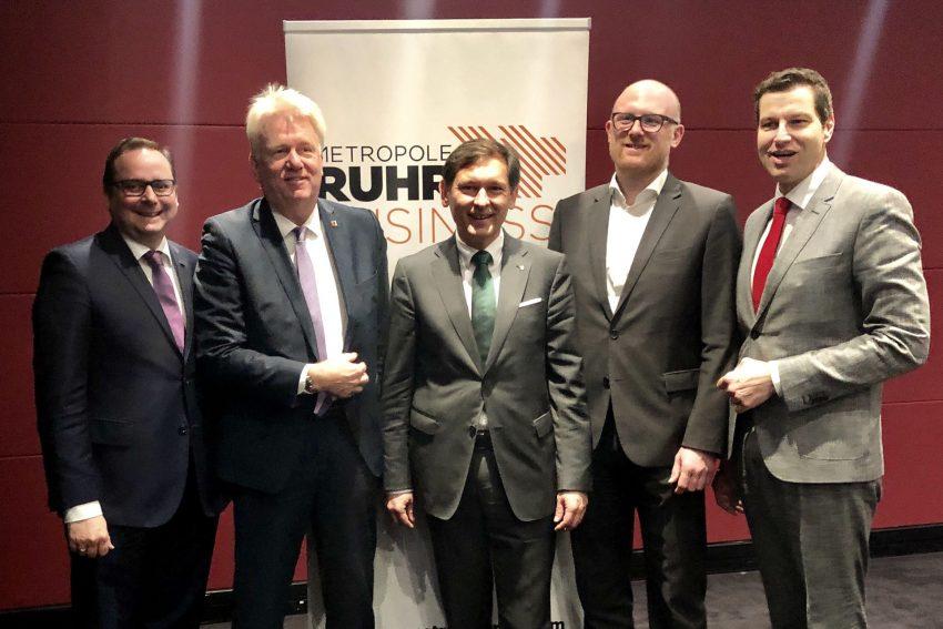 v.l. Thomas Kufen, Ullrich Sierau, Dr. Frank Dudda, Sören Link und Thomas Eiskirch.