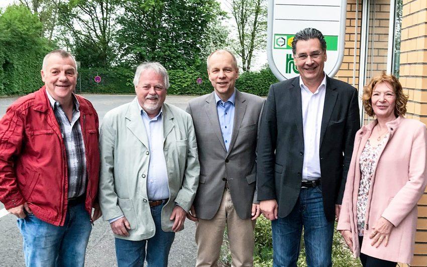 v.l. Jürgen Scharmacher, Volker Bleck (stell. Fraktionsvorsitzender), Karsten Krüger, Udo Sobieski, Manuela Lukas (stellv. Fraktionsvorsitzende).
