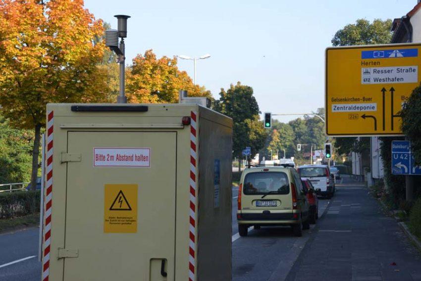 Feinstaub-Messstation an der Recklinghauser Straße. (Archivfoto)