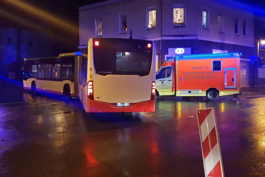 Unfallstelle an der Mont-Cenis-Straße