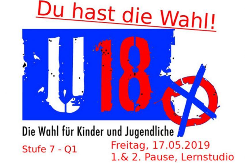 Das Plakat informierte die Schüler über ihr Wahlrecht.