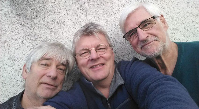 vl. Reinhold Skreba, Michael Völkel und Hans-Jürgen Goerick