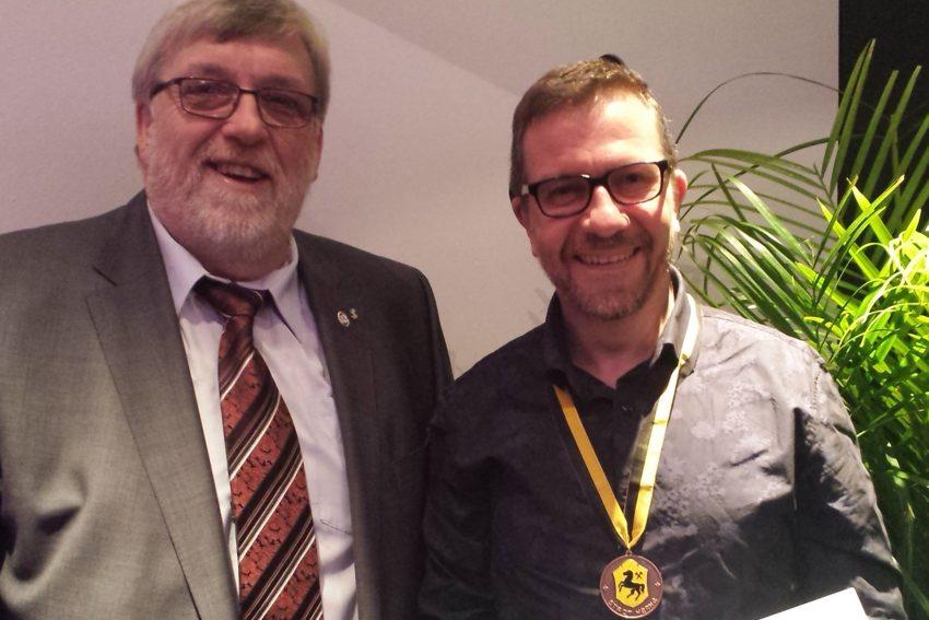 Vorsitzender Erich Leichner und Achim Raasch.