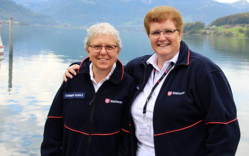 Malteser Helferinnen Cornelia Schulz und Susanne Stopka aus Herne