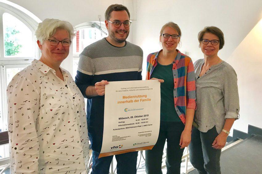 v.l. Pia Plattner, Florian Berger, Kerstin Windoffer, Karola Mono.