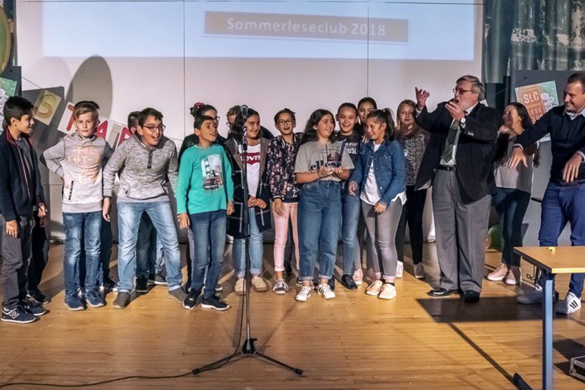 Sommerleseclub 2018 - die Siegerklasse 6a des Gymnasiums Wanne.