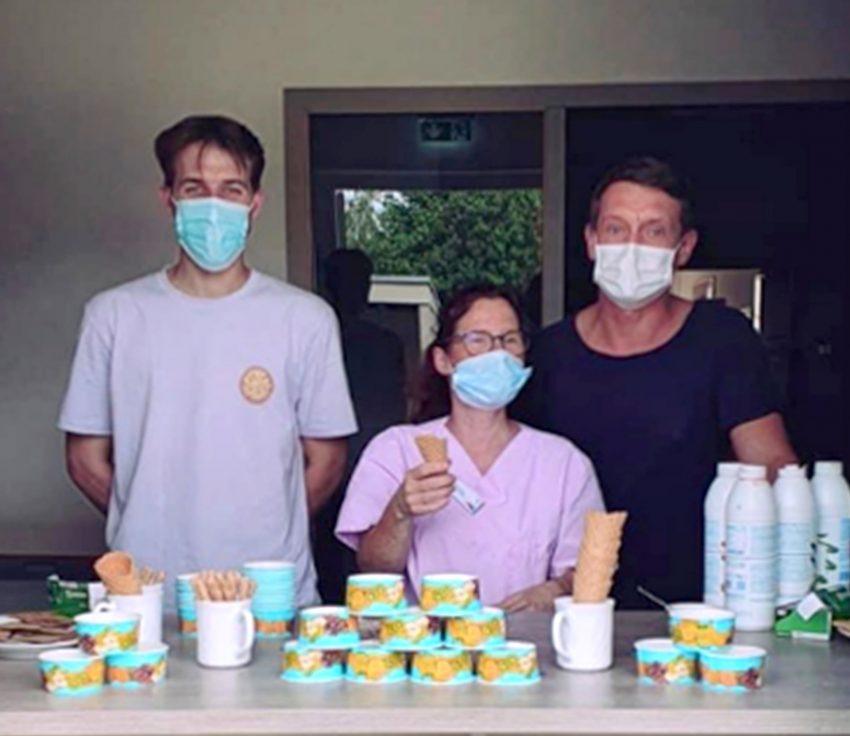 Die Mitarbeiter des Heims erfüllten die Eiswünsche.