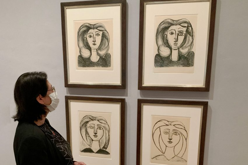 Picasso-Lithografien in der Ausstellung Simply The Best.