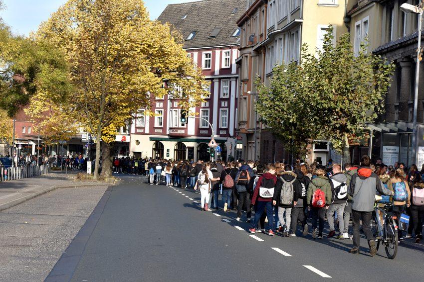 Auf dem Weg zur Bebelstraße.