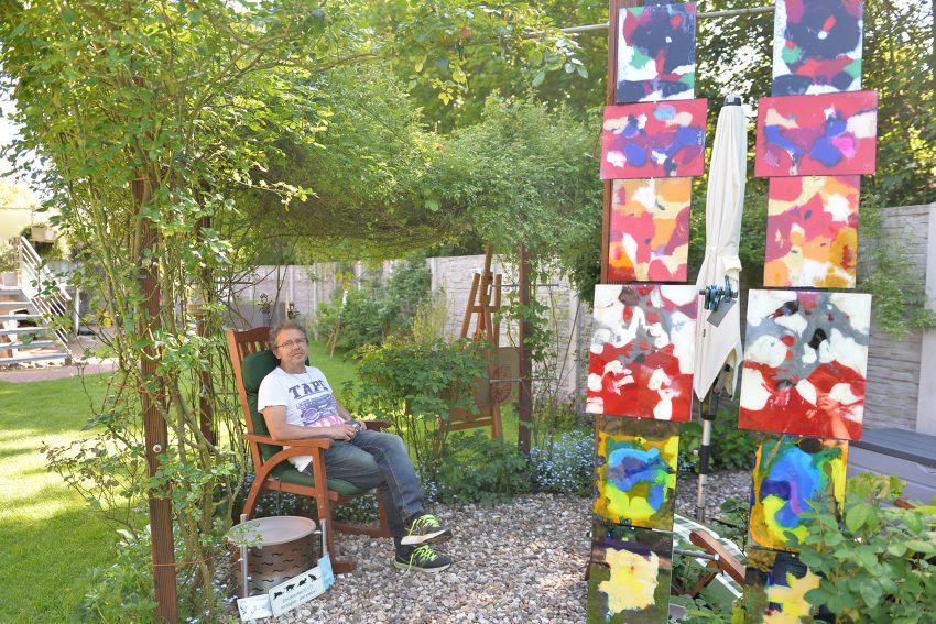 Schöne Wörter tummeln sich im Garten. Jörg Roßmannek - kurz Verschnauf-Pause.