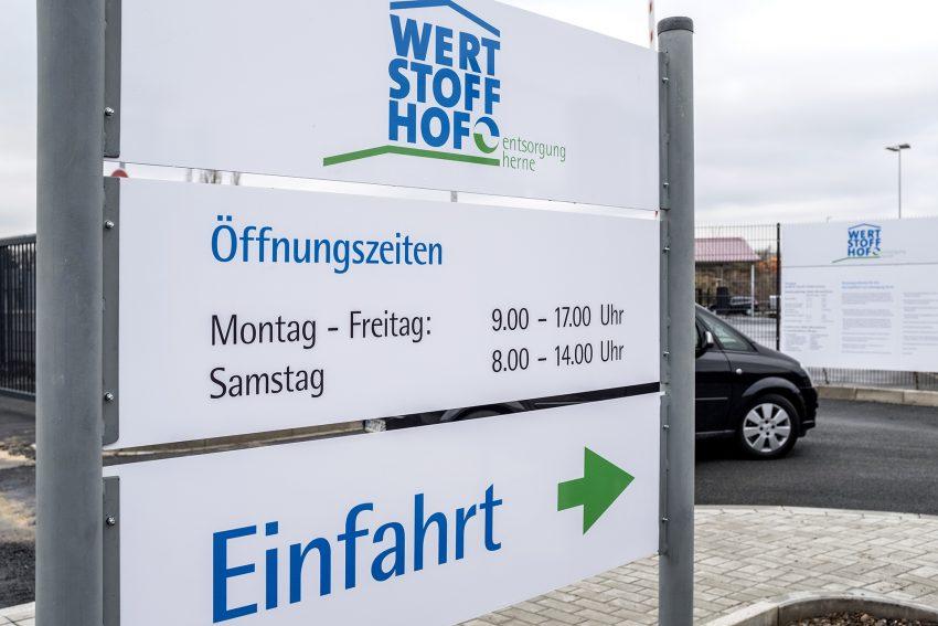Eröffnung des Wertstoffhofes der entsorgung herne.
