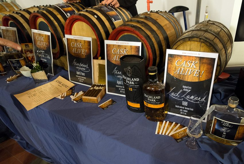 Auf der Messe Whisky'n'more in Bochum.