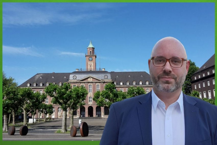 Thomas Reinke, Fraktionsvorsitzender der Herner Grünen. (2021)