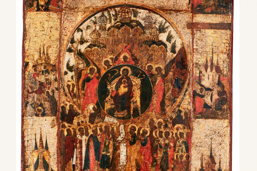 Über Dich freuet sich die ganze Schöpfung Russland, Ende 16. Jahrhundert. - Ikonen-Museum Recklinghausen Geschenk von Dr. Reiner Zerlin.