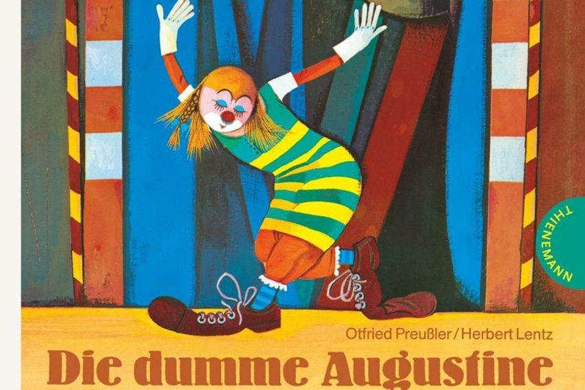 Ottfried Preußler Buchcover: Die dumme Augustine. Illustration: Herbert Lentz.